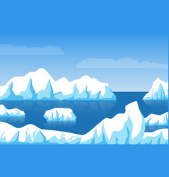 cartoon winter polar arctic or antarctic ice vector image