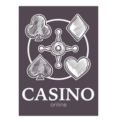 casino gambling activity monochrome sketch vector image