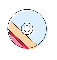 Cd rom icon image vector