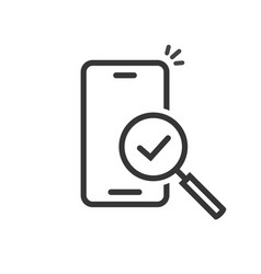Cellphone or mobile phone inspection vector