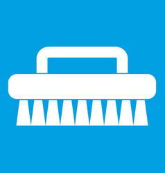 Cleaning brush icon white vector