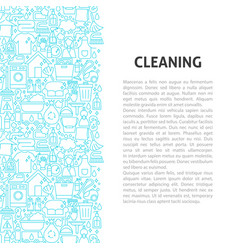Cleaning line pattern concept vector