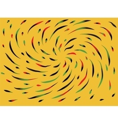 Color swirl on a yellow background vector