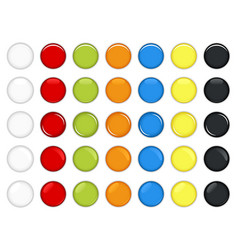 colorful glossy button a set beautiful and vector image