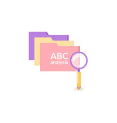 computer files and search sign isolated icons vector image