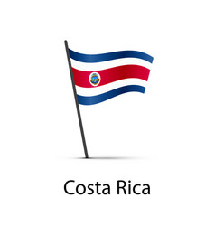 costa rica flag on pole infographic element on vector image