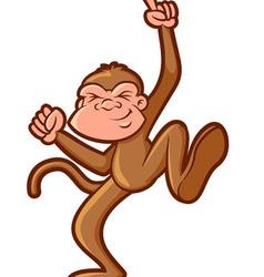 Dancing Monkey vector image vector image