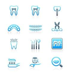 Dental set - MARINE series vector