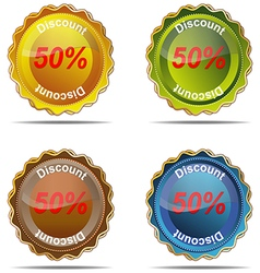 Discount label percent market nobody business sig vector image