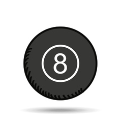 eight ball design vector image