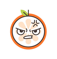 Emoji - furious orange isolated vector