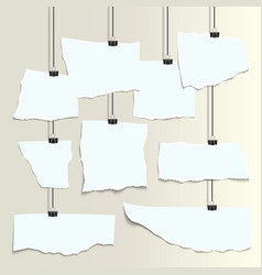 Empty isolated white realistic pieces of paper vector