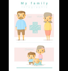 Family background and infographic 4 vector image