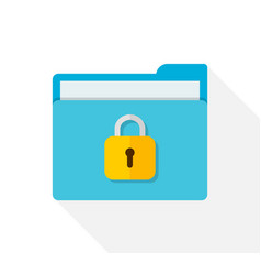 file in folder with lock icon confidential vector image
