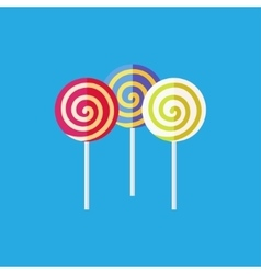 Flat lollipop icon vector image