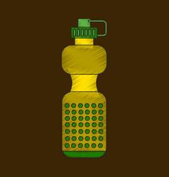 Flat shading style icon sports bottle vector