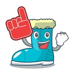 foam finger winter boot in shape cartoon funny vector image