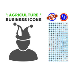 Fool icon with agriculture set vector