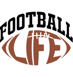 Football life on white background vector