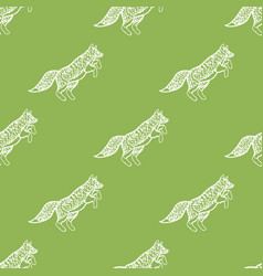 funny foxes seamless pattern for your design vector image