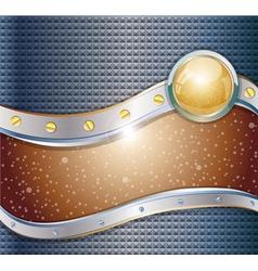 Futuristic metalic background vector image