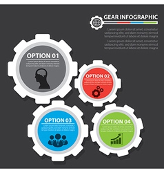 Gear infographic vector