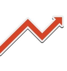 Growing arrow icon vector