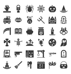 halloween icon set element glyph design vector image