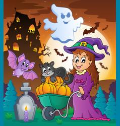 Halloween theme image 3 vector