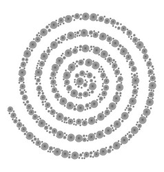 Hypnosis icon collage vector