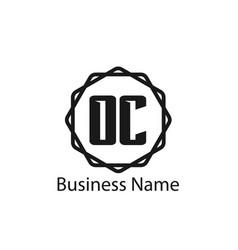 Initial letter oc logo template design vector