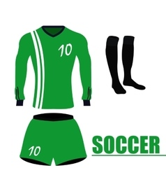 Isolated soccer uniform vector