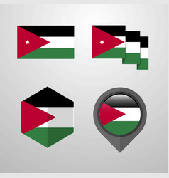 jordan flag design set vector image