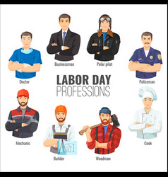 Labor day promotional poster with popular vector