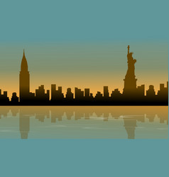 landscape of building usa silhouettes vector image