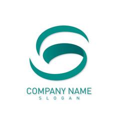 Letter s green logo vector