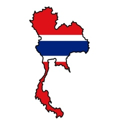 Map in colors of Thailand vector