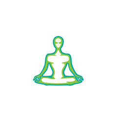 Meditation pose logo vector