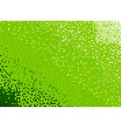 mosaic background in green color vector image