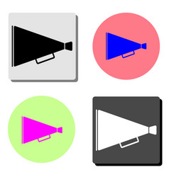 old megaphone flat icon vector image