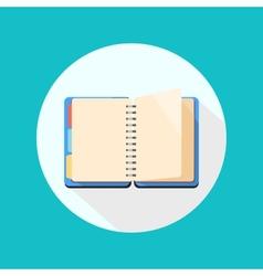 Open notebook icon vector