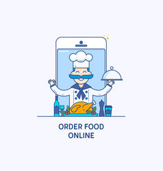 order food on line banners professional chefs vector image