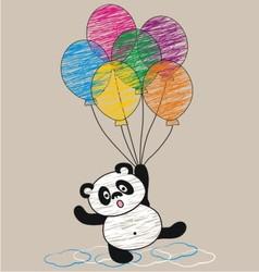 Panda and balloon vector