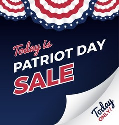 Patriot day sale promotion web banner vector image