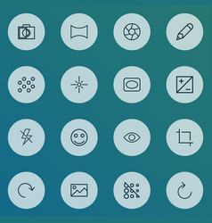 photo icons line style set with eyesight reload vector image