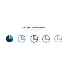pie chart organization icon in different style vector image