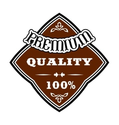 Premium Quality retro label vector image