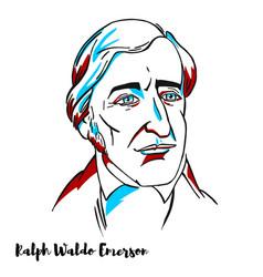 Ralph waldo emerson portrait vector