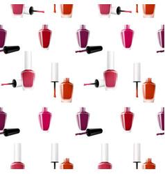 Realistic nail polish seamless pattern vector