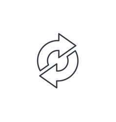 refresh arrows sync exchange thin line icon vector image